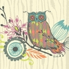 Owl & Foliage Canvas Wall Art