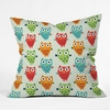 Owl Fun Throw Pillow