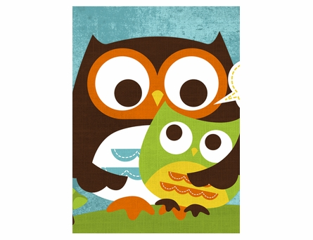 Owl Hugs Canvas Reproduction