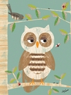 Owl in the Woods Canvas Wall Art