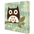Owl On Perch Canvas Reproduction