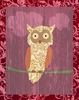 Owl on Red Canvas Wall Art
