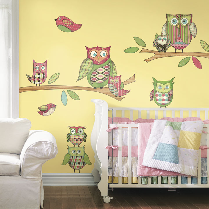 owl peel and stick wall mural in pink rosenberryrooms com owl peel and stick wall mural in blue rosenberryrooms com