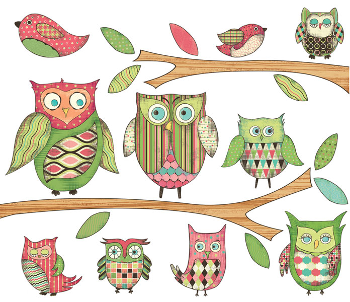 owl peel and stick wall mural in pink rosenberryrooms com owl wall mural in blue rosenberryrooms com