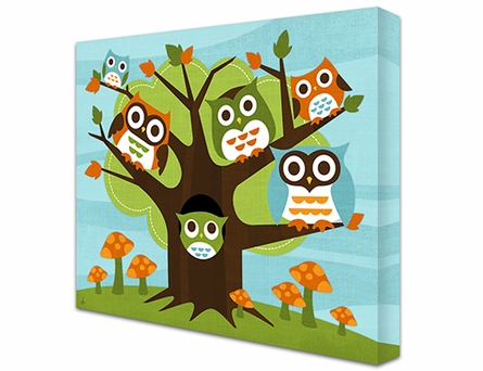 Owl Residence Canvas Reproduction