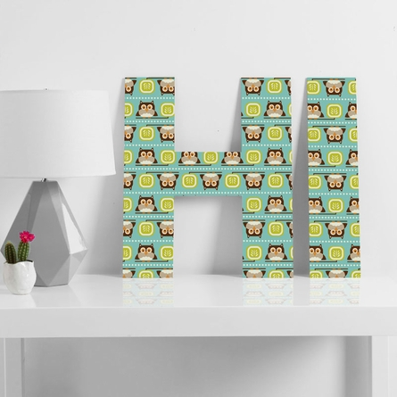 Owl Town Teal Decorative Letters