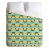Owl Town Teal Lightweight Duvet Cover