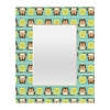 Owl Town Teal Rectangular Mirror