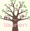 Owl Tree Pink Canvas Wall Art