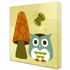 Owl With Butterfly Canvas Reproduction