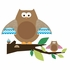 Owls and Branches Peel & Stick Giant Wall Decals