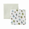 Owls Muslin Swaddle Blanket Set of 2