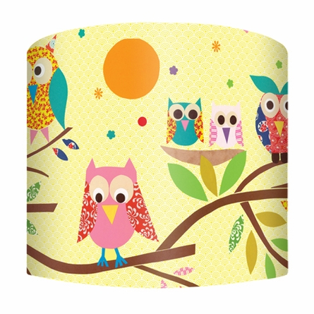 Owls on a Branch Lamp