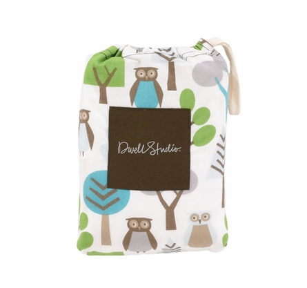 Owls Sky Fitted Crib Sheet