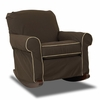Oxford Slip Covered Rocking Chair