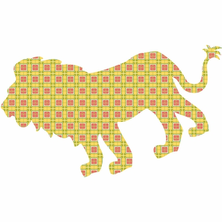 Ozzie the Lion Peel & Stick Wall Decals