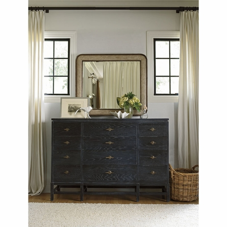 Pacific Pointe Landscape Mirror in Sandy Linen