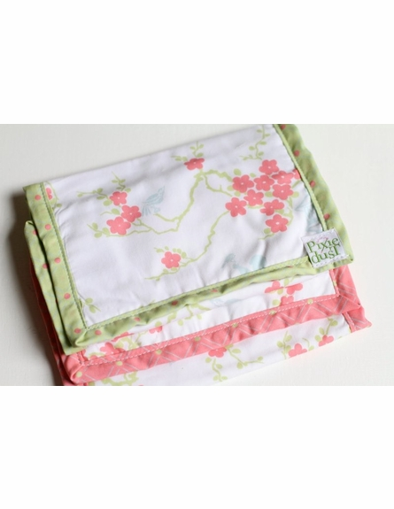 Pagoda Mix Baby Blanket with Lime Trim
