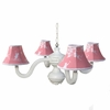 Pagoda Pink Bella Four Arm Spindle Chandelier