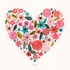 Painted Heart Canvas Wall Art