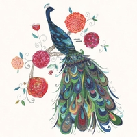 Painted Peacock Canvas Wall Art By Oopsy Daisy