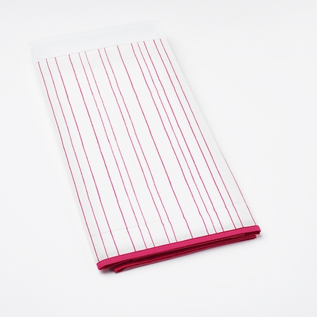 Painted Stripe Crib Skirt in Pink