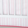 On Sale Painted Stripe Crib Skirt in Pink