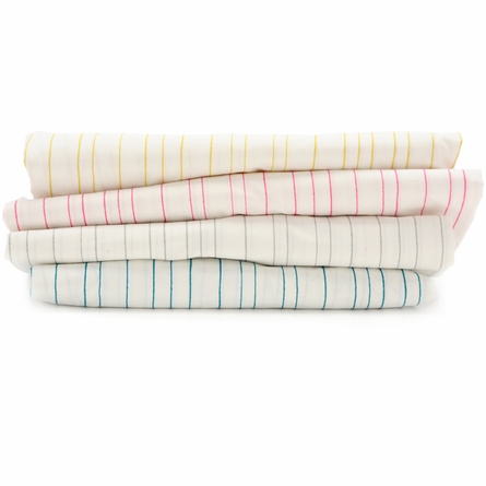 On Sale Painted Stripe Fern Fitted Crib Sheet