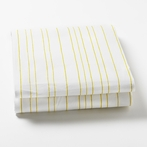 Painted Stripe Fern Fitted Crib Sheet