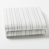 Painted Stripe Grey Fitted Crib Sheet