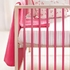 Painted Stripe Pink Fitted Crib Sheet