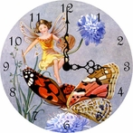 Painting Butterflies Wall Clock