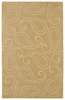 Paisley Imprints Classic Rug in Yellow