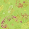 Paisley Lime Wallpaper