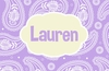 Paisley Personalized Placemat