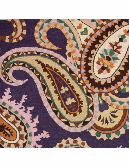 Paisley Rug in Purple