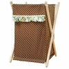 Paisley Splash in Green and Brown Hamper