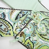 Paisley Splash in Green Crib Bumper