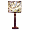 Paisley Splash in Green Lamp