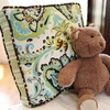 Paisley Splash in Green Throw Pillow