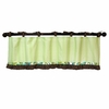 Paisley Splash in Green Window Valance