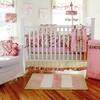 Paisley Splash in Pink Crib Bedding Set