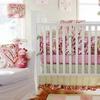 Paisley Splash in Pink Crib Bumper