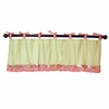 Paisley Splash in Pink Window Valance