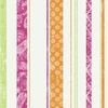 Paisley Stripe Pink Green & Orange Wallpaper
