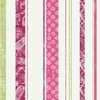 Paisley Stripe Pink Magenta & Green Wallpaper