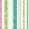 Paisley Stripe Teal Pink & Lime Wallpaper