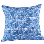 Palace Blue Quilted Pillow Sham