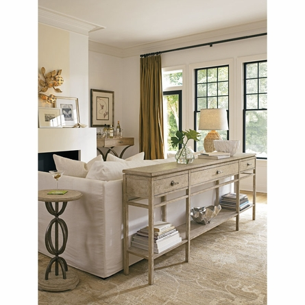 Palisades Sofa Table in Sandy Linen