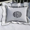 Palm Beach Pewter Throw Pillow